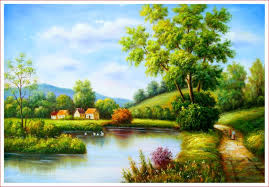 easy painting of nature scenery best 2018