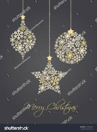 ornaments made snowflakes vector illustration stock