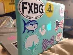 preppy decals preppy laptop stickers southern tide vineyard vines southern