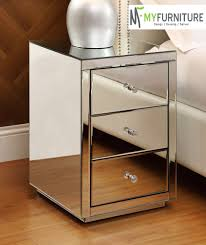 Mirrored Bedside Tables Mirrored Side Table With Drawer 14 Outstanding For White Side