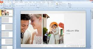 wedding album templates powerpoint photo album template wedding photo album