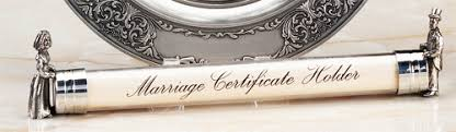 wedding certificate holder m cornell importers inc pewter and groom marriage