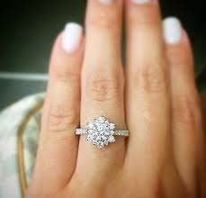 snowflake engagement ring snowflake engagement ring vintage diamond snowflake cluster