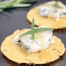 kitchen table bakers parmesan crisps honey rosemary blue cheese canapes ingredients kitchen table bakers