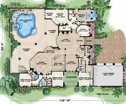 10 mission style house plans with courtyard spanish home