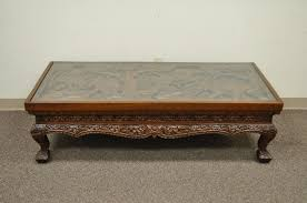 Asian Coffee Tables by 20th Century Vietnamese Handcarved Asian Coffee Low Table With