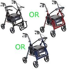 Drive Wheel Chair Drive Duet Rollator Walker Transport Chair 2 In 1 Combination