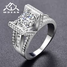 wedding rings women mdean wedding rings for women white gold color aaa zircon jewelry
