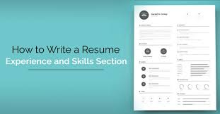 Skills Part Of Resume How To Write A Resume Skills And Experience Section Wisestep