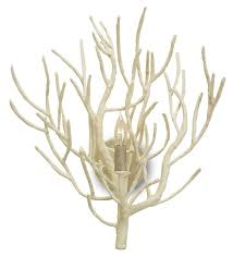 eventide white coral wall sconce faux coral beautiful reminder