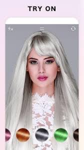 see yourself in different hair color fabby look hair color changer style effects android apps on