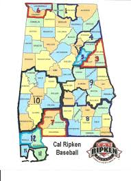 Cal Map Alabama Ruth Baseball U0026 Softball Cal Ripken Boundary Map