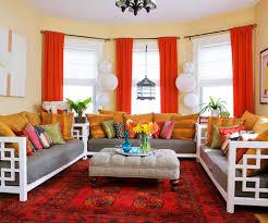 orange livingroom 15 red living room design ideas