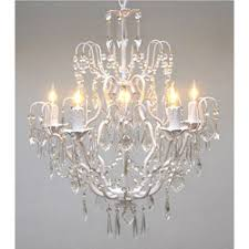 White Chandeliers 5 Light 22 Inch Rosielee White Chandelier Free Shipping Today