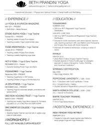 Best Yoga Resume by Resume Pilates Instructor Resume