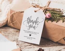 thank you favors greenery thank you tag wedding thank you tags gift tags