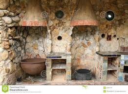 rustic old outdoor kitchen stock image image 2235731