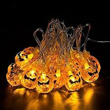 pumpkin lights pumpkins string lights 30 leds 10 33 foot