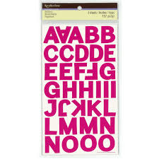 stickers letters numbers michaels pink block alphabet stickers by recollections
