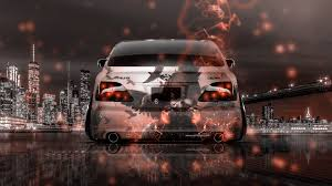 orange cars 2017 toyota crown athlete jdm back anime night new york city energy car