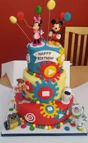 disney character 3 tier birthday cake kids cake ideas