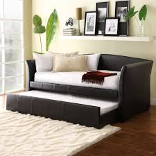 Wall Mounted Living Room Furniture Maximizing Small Living Room Spaces With Black Leather Sleeper