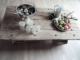 old and vintage wooden table for rustic living room furniture ideas