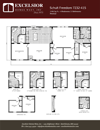 schult modular home floor plans schult freedom 7232 415 excelsior homes west inc