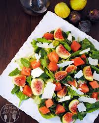 Main Dish Salad - fig watermelon spinach salad like mother like daughter