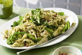 poached chicken broccolini u0026 pesto quinoa gluten free