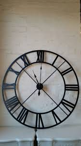 Breathtaking Large Wrought Iron Wall Decor London Large Round Wrought Iron Urban Chic Black Wall Clock For