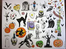 25 beautiful halloween tattoo flash ideas on pinterest