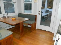 kitchen tables for small kitchens with brown wooden nook bench