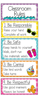 printable instructions classroom have the classroom rules visible so students never have the excuse