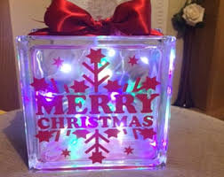 Decorative Glass Block Lights Fairy Lights Box Etsy