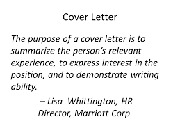 purpose of cover letter download what is the purpose of a good