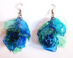 plastic bottle earrings recycled plastic etsy