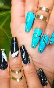 marbled nails nail art pinterest marbled nails