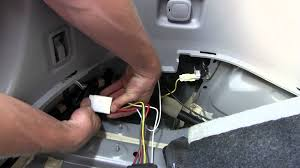 installation of a trailer wiring harness on a 2006 toyota