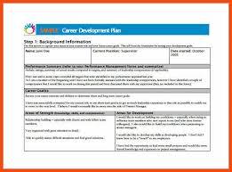 career development plans employee development plan template program format