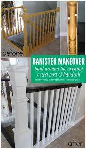 How To Make A Banister For Stairs Stair Banister Renovation Using Existing Newel Post And Handrail