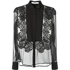 white silk blouse sleeve givenchy black silk and lace transparent black top found on
