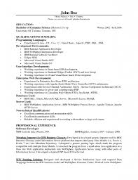 Cover Letter Template Resume Junior Computer Science Resume In Java Developer Resume Sample