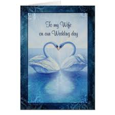 To My Wife On Our Wedding Day Card To My Wife Greeting Cards Zazzle Co Uk