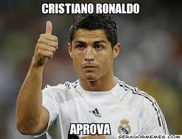 Cristiano Ronaldo Meme - cristiano ronaldo aprova personalizado gerador memes