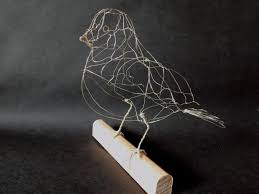 One Of A Kind Home Decor by Wire Bird Harley 3d Wire Sculpture Dove Art Perching Metal