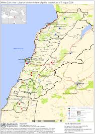 Map Of Lebanon Who Maps