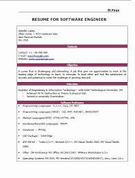 resume format for freshers engineers information technology 50 fresh gallery of resume format pdf for engineering freshers
