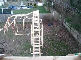 roller coaster for backyard my backyard roller coaster pov 12 13 11 youtube