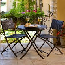 Folding Patio Table And Chair Set Patio Table And Chair Set Outdoor Metalc2a0 Stirring Images